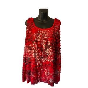 RUFFLED RED CAMISOLE